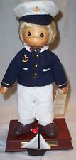 Precious Moments Carved Face Sailor Musical Navy Doll Ryan Limit Ed 981/1000