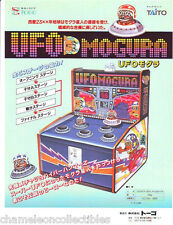 UFO MOGURA By TAITO ORIGINAL NOS NOVELTY ARCADE GAME MACHINE FLYER BROCHURE