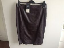 Leather Pencil  skirt - Brown -  size 10 - Next with Original Labels Attached