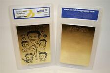BETTY BOOP 23K Gold Card Sculptured * Officially Licensed * Graded GEM MINT 10
