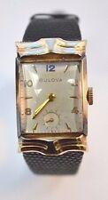 Ladies Bulova Vintage 14k Yellow Gold Filled Case Watch