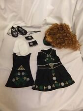 "American Girl Doll ""Nellies Irish Step Dance Costume"" with wig"