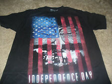 Independence Day USA American Flag Mens Black T-Shirt Size Medium M