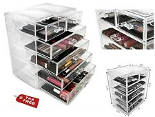 6 Drawer Storage Organizer Wide Plastic Container Bin Box Home Cosmetics Cabinet