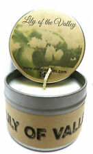 Lily of The Valley Homemade 4oz Tin Soy Candle -Easy to take any where, gift