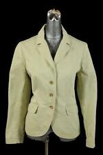 womens khaki tan LANDS END blazer jacket lightweight safari cotton LARGE 14
