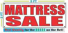 Red MATTRESS SALE 2X5 Banner Sign NEW Size Best Quality for The $$$