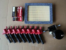 COMPLETE TUNE UP KIT 8+COILS RED+ 8 PLUG SP515+ AIR, GAS, OIL FILTER