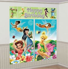 DISNEY FAIRIES Scene Setter HAPPY BIRTHDAY party wall decoration TINKERBELL 6'