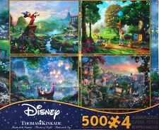 Thomas Kinkade Disney Dreams 4 in 1 Multipack II 500 Piece Ceaco Jigsaw Puzzles
