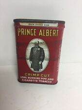 Old Vtg Prince Albert  Red Crimp Cut Long Burning Pipe and Cigarette Tobacco Tin