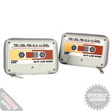 Nouveau cassettes Rond Zip Porte-monnaie rétro vintage 80s argent cash coin Old Skool