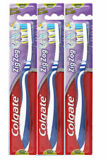 12 X COLGATE ZIGZAG MEDIUM TOOTHBRUSH. DEEP INTERDENTAL CLEAN. GOOD VALUE!!