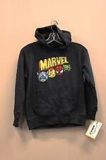 MARVEL CARTOON CHARACTERS BLACK SWEATER WITH HOODIE..XTREME..SIZE: KIDS MEDIUM