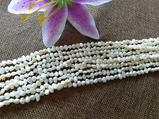 Wholesale Lot 4-6mm Natural beige Freshwater Pearl  BAROQUE Loose Beads 14""