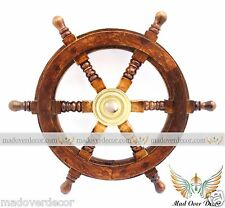 "VINTAGE WILCOZ CRITTENDEN 12"" HELM WHEEL SHIP'S STEERING WHEEL YACHT NAUTICAL"