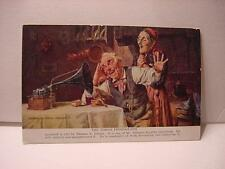 Vintage Advertising Postcard: EDISON Phonograph w/Interior Scene, Enjoying Music