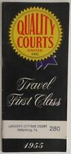 1955 QUALITY COURTS MOTEL LOCATION FINDER BROCHURE
