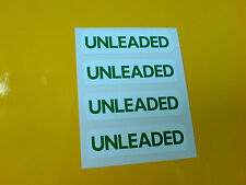 UNLEADED Fuel Petrol Race Rally Stickers Decals 4 off 50mm