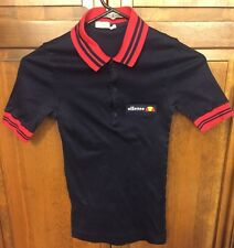 Ellesse Made In Italy Navy Blue Polo Shirt Tennis Lounge Club Boys 6 7 Vintage