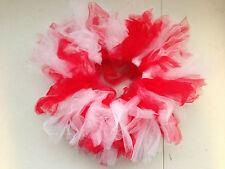 Girl's Toddler/Baby Infant Red & White Ballet Dance Short Mini Tutus