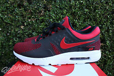 NIKE AIR MAX ZERO ESSENTIAL SZ 11 UNIVERSITY RED BRED 876070 600