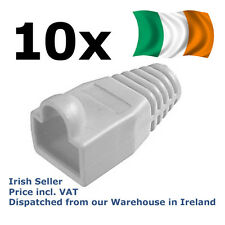 10 pack Antikink protection sleeves for RJ45 plugs anti kink RJ-45 boot