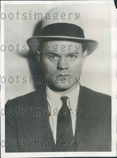 1931 Chicago Gangster Robber Oyster Varland Alias Victor Meyers Press Photo