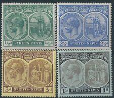 e210) St. Kitts/Nevis.1920/22. MM. SG 24,28,29,31. Mult. Crown CA. P14. c£16+