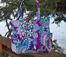 VERA BRADLEY Pleated Tote Bag Large Purse Heather Shopping Travel College