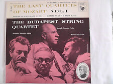"Budapest String Quartet ""The Last Quartets Of Mozart, Vol. 1"" Columbia # ML 5007"