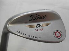 Used LH Titleist Vokey Spin Milled 52* Wedge 52.08 Dynamic Gold Wedge flex Steel