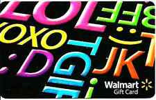 WalMart Texting Abbreviations LOL BFF XOXO 2013 Gift Card Collectible Only