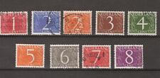 NVPH Netherlands Nederland 460 - 468 used gestempeld 1946-1957 Cijfer Pays Bas
