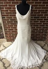 Bridal Wedding Gown Ivory Dress Size 12 Tall Lace Beading Sincerity # 3736