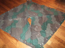 SWEDISH MILITARY CAMOUFLAGE TENT PONCHO 2 SHELTER HALVES WWII OR POST WAR NEW