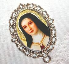 Custom Silver Rosary Center Part/Rosary Making/St. Therese of Lisieux