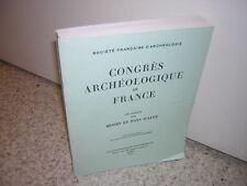 1984.congrès archéologique France.Evrecin Lieuvin Ouche.moyen age.archéologie
