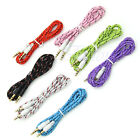 3.5mm Audio Iphone Woven Fabric Aux Male Stereo Braided Cable Pc Ipod For Phone