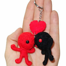 Valentines Day Red Love Heart Romance Voodoo Doll Keyring Keychain Gift Present