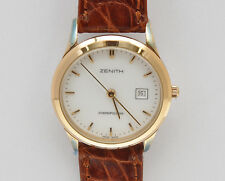 Zenith Cosmopolitan contemporary gold lady 27mm watch new pristine unworn
