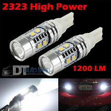 2X 1200 Lumens  40W High Power LED White Backup Reverse Light Bulbs Projector