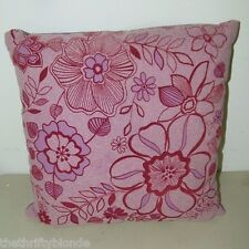 Pier 1 One Throw Pillow Mauve Flocked Floral 16180