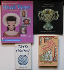 4 Books: Collecting Art Nouveau, The Old China Book, Encyclopedia of Head Vases
