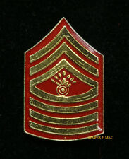 AUTHENTIC US MARINE MASTER GUNNERY SERGEANT MGYSGT E-9 HAT PIN INSIGINIA RANK