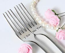 Wedding Forks, I Do-Me Too Forks, Wedding Cake Forks, Personalized Forks
