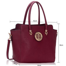 Ladies Two Tone Handbags Women's Large Designer Fashion Faux Leather Tote Bags