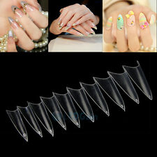 Lot 500 PCS Clear French Stiletto False Nail Acrylic Tips