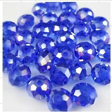 Hot Wholesale 6MM 98pcs AB Blue Crystal Faceted Rondelle Loose Beads 02