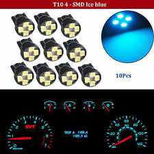 10X T10 Wedge Ice Blue 4-SMD LED Dashboard Light W5W 161 168 192 Indicator Lamps